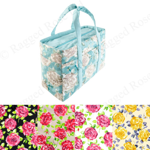 Ragged Rose Donna Borsone Tela Borsa Spiaggia in Floreale Rose