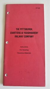 Vintage 1994 Pittsburgh Chartiers & Youghiogheny Railroad Hazmat Materials Book