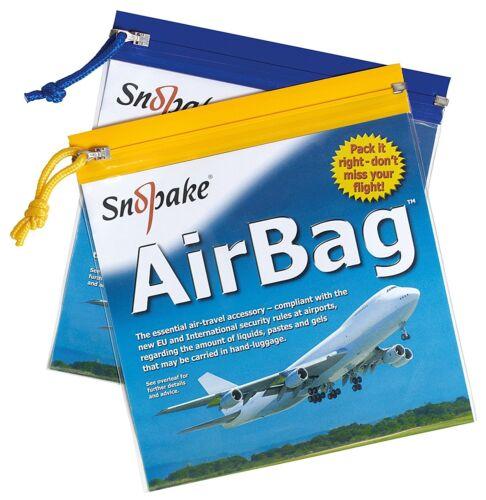 SNOPAKE 15158 Vol Air Sécurité Portuaire Sac Zip Pull 200 x 200 mm