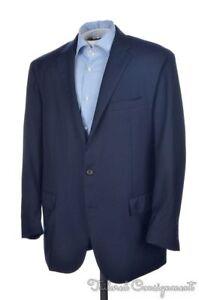 POLO-RALPH-LAUREN-Solid-Blue-100-Wool-Mens-Blazer-Sport-Coat-Jacket-46-R