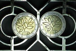 2 X 2004 FINLAND 2 euro COMMEMORATIVE circulated