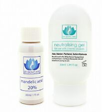 Mandelic 10% Acid Chemical facial Peel, Neutraliser Gel & Applicator Brush