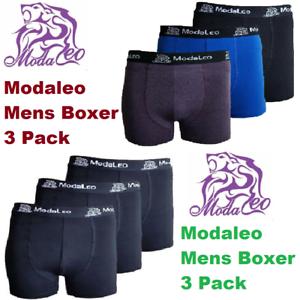 100-GENUINE-MODALEO-3-MENS-TRUNKS-MENS-BOXERS-SEVERAL-COLOURS-COTTON-BOXERS