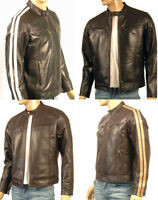 Retro Style Nappa Real Leather Jacket Black Or Brown