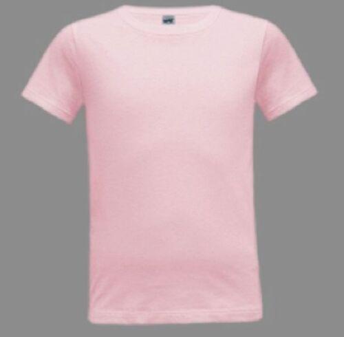 4-18 SOFT 100/% Cotton Fine Jersey Short Sleeve T Shirt Blanks Youth Girl Boy Sz
