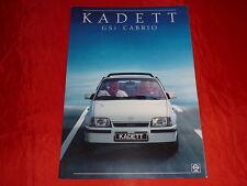 OPEL Kadett E GSi Cabrio schweizer Prospekt von 1987