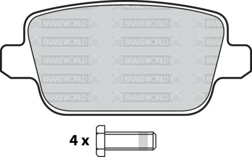 OEM SPEC REAR DISCS AND PADS 302mm FOR FORD MONDEO 1.6 TD 2011-13