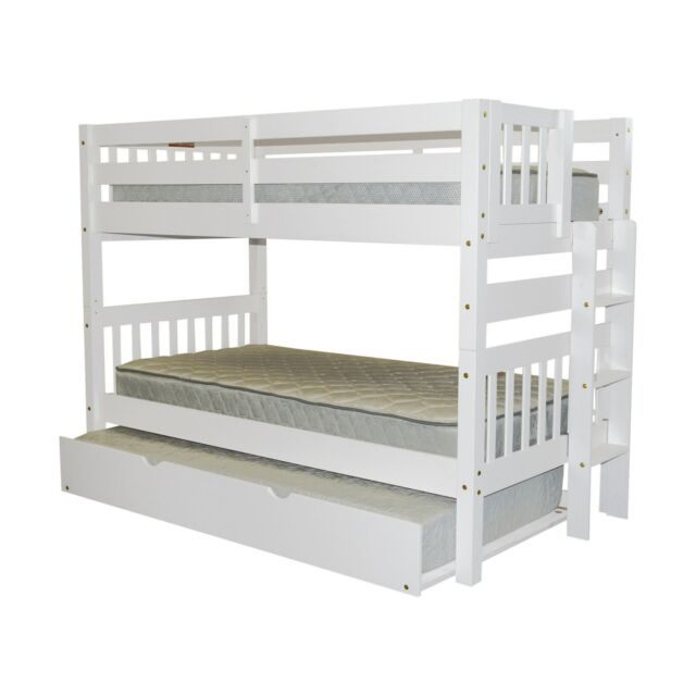 Bedz King Bunk Bed Twin Over Twin With End Ladder And A