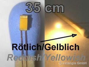 SMD-LED-0603-SUPER-GOLDEN-WHITE-ROTLICH-GELBLICH-Cu-Draht-35cm-XL-red-yellowish