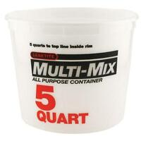 5-qt. Natural Multi Mix Container Plastic Construction Paint Bucket (pack Of 3)