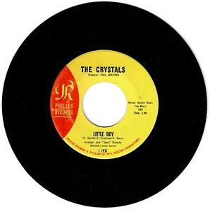 The-Crystals-1964-Philles-45rpm-Little-Boy-b-w-Harry-amp-Milt-Phil-Spector