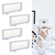 4 Pcs 3d Floating Jewelry Display Frame Stand Necklace Display Box Holder