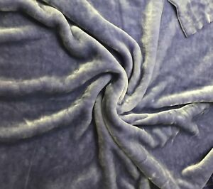 "Hand Dyed Silk VELVET Fabric BLUE EYES fat 1//4 18/""x22/"" remnant"