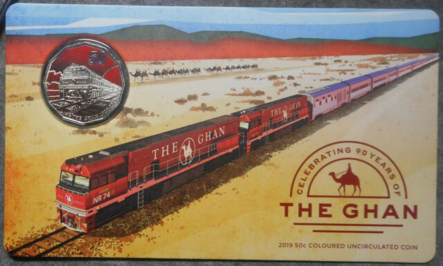 Australia 2019 The Ghan UNC  50 cent Coin in card