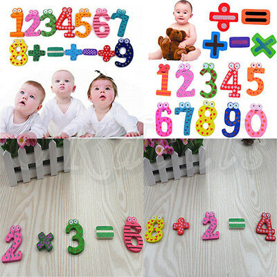 Baby Figure Magnet Wood Fridge Stick Toys Toddlers Early Education Learning Toy
