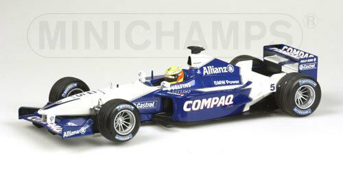 Carnaval Noël, et je suis charFemmet! Williams BMW FW23 Ralf Schumacher 2001 1:43 Model 400010005 MINICHAMPS | Qualité Et Quantité Assurée