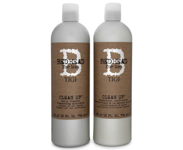 TIGI Bed Head For Men Clean Up Clean it Up Shampoo & Conditioner 750mL
