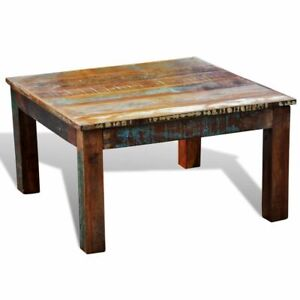 Details About Reclaimed Wood Modern Handmade Coffee Table Furniture Square