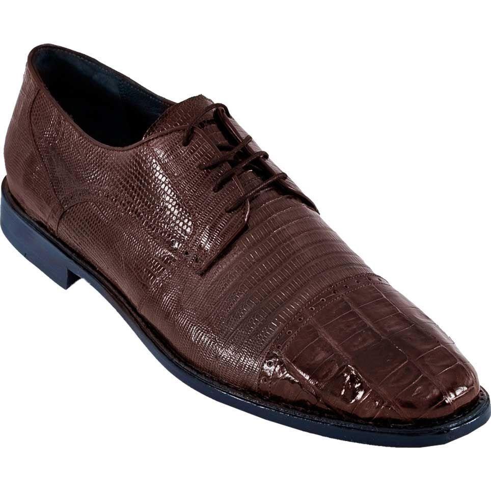 Zapatos De Vestir los altos con Lagarto Cocodrilo Caimán Genuino Marrón Oxford EE