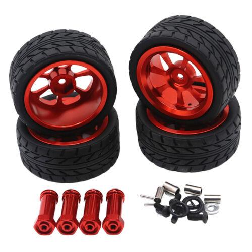 Auto Felge /& Reifen w//Rad Hex Hub Adapter für Wltoys 1//14 144001 A959 A949
