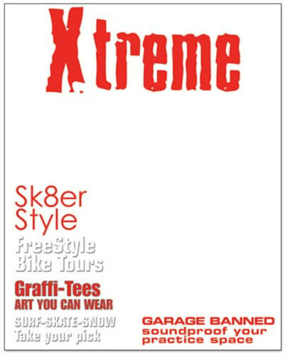 XTREME Magazine Cover 8x10 Transparency SURF SK8 scrapbooking BIKE