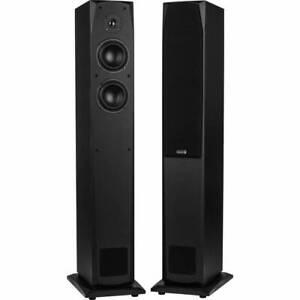 Dayton-audio-MK442T-4-034-2-Way-linea-de-transmision-par-de-altavoces-de-torre