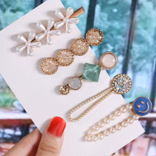 Women Acrylic Pearl Hair Clip Hairpin Barrette Stick Pin Hair Snap Accessories