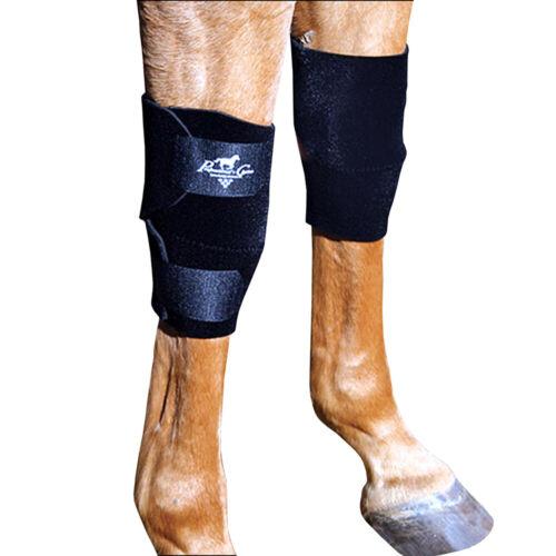 C--BLA Professional Choice Horse Equine Protective Knee Boots Leg Pair Black