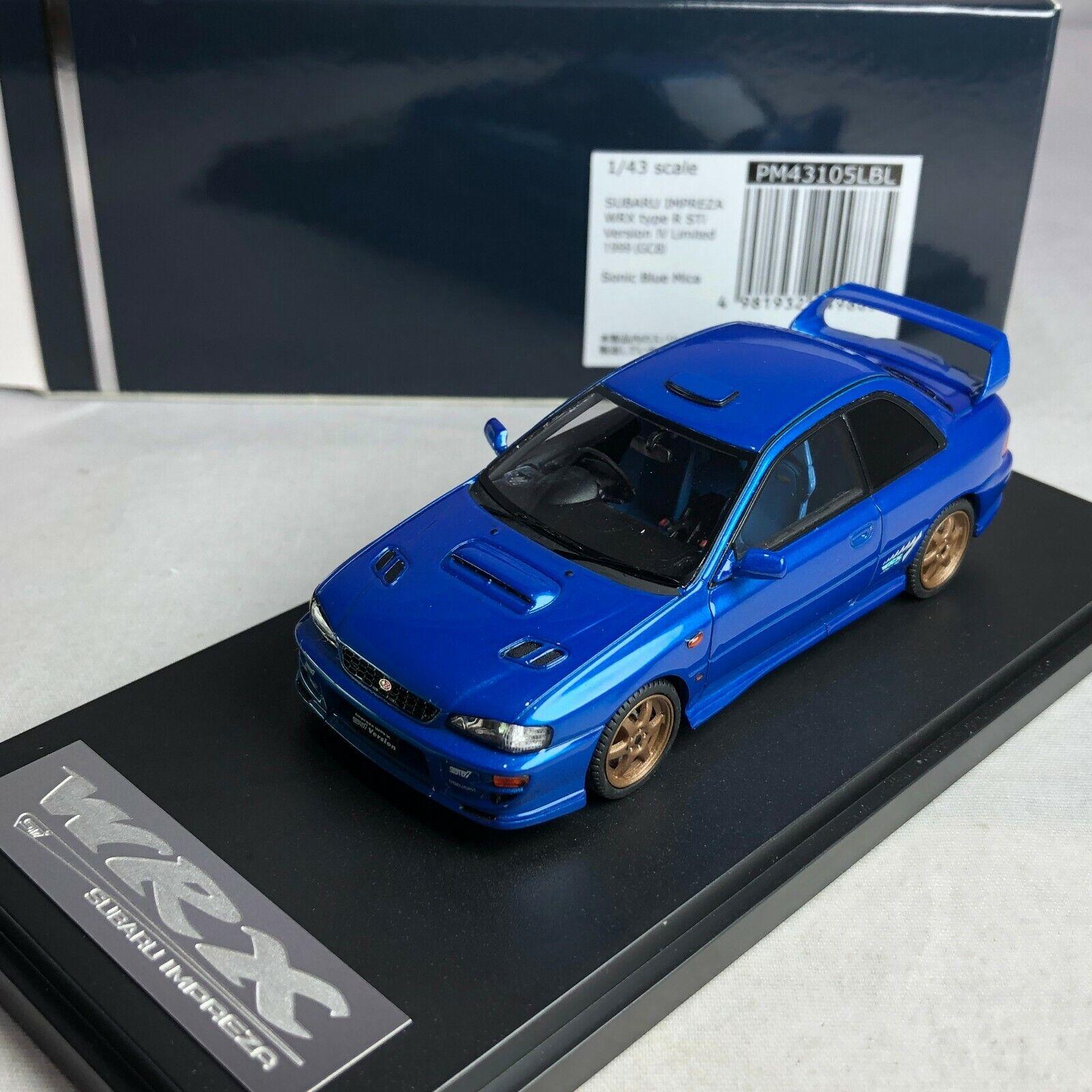 Para tu estilo de juego a los precios más baratos. 1 43 Mark 43 Subaru Impreza Wrx Type-R Sti Sti Sti versión IV 1999 GC8 Azul PM43105LBL  tienda de descuento