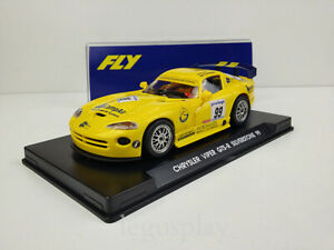 Slot car SCX Scalextric Fly A8 Chrysler Viper GTS-R Silverstone 99