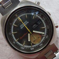 Seiko 5 Sports Chronograph mens wristwatch steel case & bracelet Ref. 6139-7020