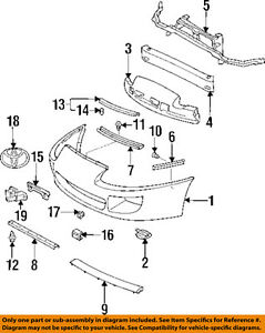image is loading toyota-oem-93-98-supra-front-bumper-retainer-