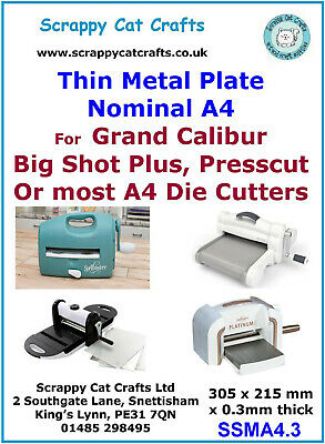 SSMA4.9 2 Thick Metal Plate for Big Shot Plus  /& Similar A4 Machines