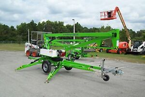 Details about Nifty TM34H 40 Ft Towable Boom Lift w/Hydraulic  Outriggers,2019 Battery Powered