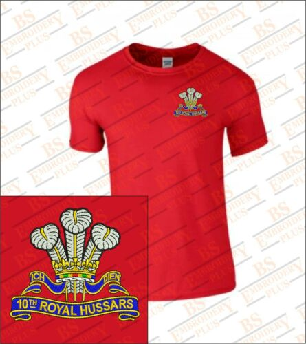 10th ROYAL HUSSARS EMBROIDERED T-SHIRT