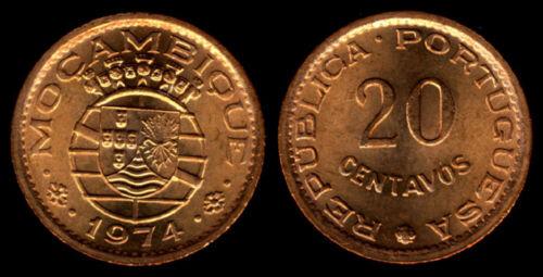KM88 Mozambique 1974 20 Centavos Uncirculated
