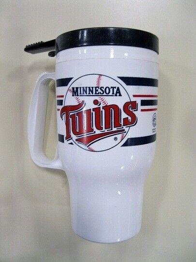 Minnesota Twins MLB Baseball 16oz Plastic Travel Mug with self sealing lid