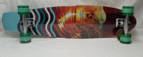 """Sunset Tube Kryptonics 38/"""" DiamondTail Longboard Complete Skateboard"""