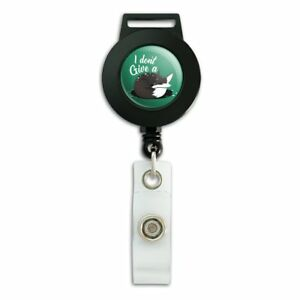 Black-Fox-I-Don-039-t-Give-A-Pun-Lanyard-Retractable-Reel-Badge-ID-Card-Holder