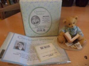 VINTAGE-BOXED-retired-cherished-teddies-TEDDY-BEAR-dad-father-bill-paying-203459