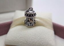 New w/ Box RETIRED Pandora Song Bird Cage w/14K Charm  #791114 BEWARE FAKES