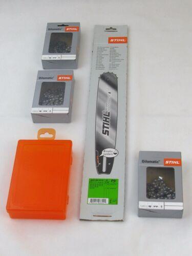 3Vollmeißelkette Stihl Führungsschiene Rollomatic 40cm 3003 000 6113 Kettenbox