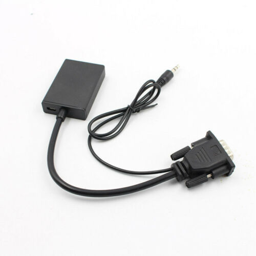 VGA Male To HDMI Output 1080P HD Audio TV AV HDTV Video Cable Converter Adapte