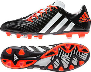 online store e4580 a2602 Image is loading Adidas-Predator-Incurza-Rugby-Football-Soccer-Boots-Black-