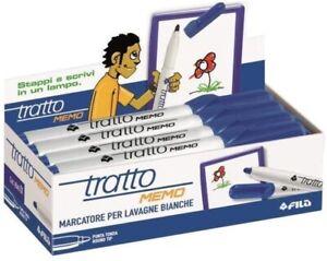FILA-TRATTO-MEMO-854001-BLU-CONFEZIONE-12-PEZZI-MARCATORE-LAVAGNE-BIANCHE