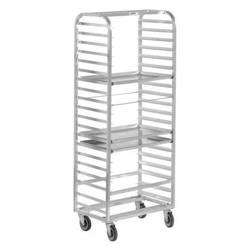 "Side Loading Aluminum 70-1//4/"" High for 20 Pans Channel Bun Pan Rack"