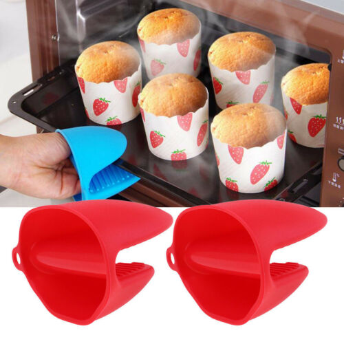 Silicone Oven Gloves Heat Resistant Mini Mitt Pot Holder Cooking Pinch Grilling