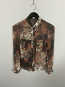 KAREN-MILLEN-Shirt-Size-UK8-Silk-Great-Condition-Women-s