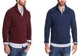 Weatherproof Mens 1//4 Zip Solid Pullover Sweater