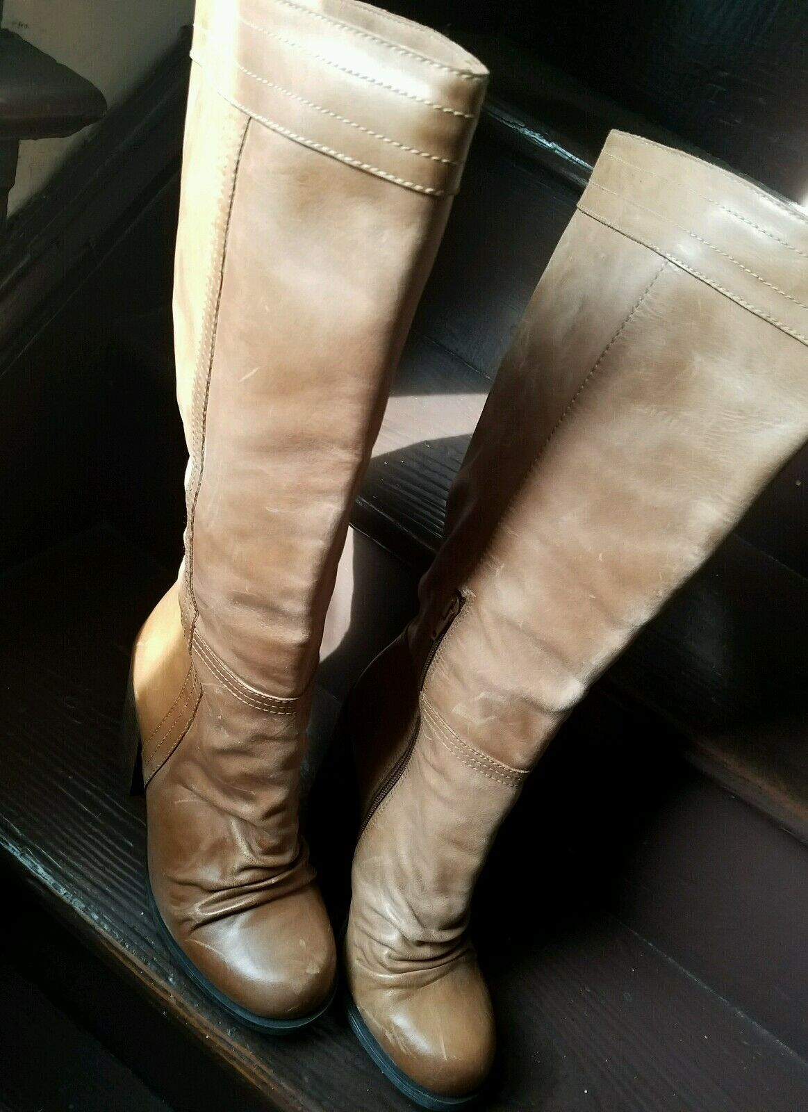 New JESSICA SIMPSON TUSTINY TAN LIMA LIMA LIMA marron LEATHER bottes 8M 8e27a2